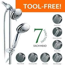 dreamspa shower heads instant mount drill free height angle adjule shower head handheld shower combo with dreamspa shower heads