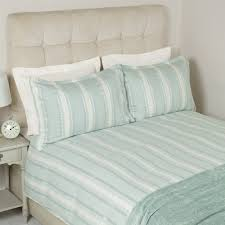 forbury stripe jacquard duck egg blue mix duvet cover