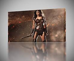 wonder woman canvas print wall art giclee batman v superman4 sizes ca146 small on wonder woman canvas wall art with amazon wonder woman canvas print wall art giclee batman v