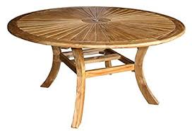 Chic teak furniture Dining Table Image Unavailable Amazoncom Amazoncom Teak Sun Table Made By Chic Teak Garden Outdoor