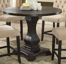 furniture of america nerissa antique black round counter height table the classy home