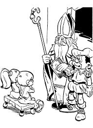 Kleurplaat Sinterklaas Kijkt In Het Grote Boek 9259 Kleurplaten