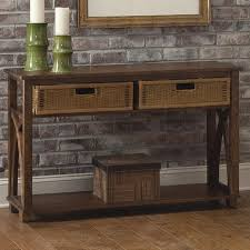 sofa table with storage baskets. Sofa Table With Basket Storage Baskets H