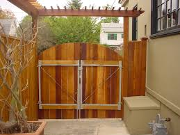 double fence gate. Double Wooden Fence Gate