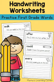 Handwriting Worksheets for Kids: Dolch First Grade Words - Mamas ...