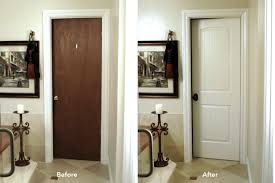 before and after interior bathroom door updates the whole room
