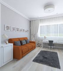 Orange Sofa Living Room Classic Style Children Room Whit Orange Sofa 3d Model Cgstudio