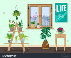 indoor home office plants royalty. Interior With Various Indoor Plants On The Shelves, Stands, Tables. Great For Flower Home Office Royalty