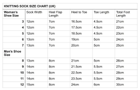 Sock Knitting Foot Size Chart Pin By Caleigh Toppins On Crochet Projects Knitting Socks