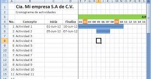formato cronograma de actividades mensual como hacer un cronograma en excel capacitate