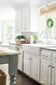 painted oak kitchen cabinets before and after. Kitchen FAQs- Our Painted Oak Cabinets Two Years Later Before And After O