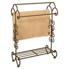 Buy Quilt Rack from Bed Bath & Beyond & Metal Quilt Rack with Bottom Shelf in Oil Rubbed Bronze Adamdwight.com