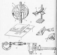 Контрольно измерительные инструменты Технологии обработки древесины Контрольно измерительные инструменты и примеры пользования ими а индикатор и проверка им осевого биения пильной шайбы б уровень и проверка им