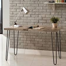 Schevron Midcentury Industrial Rustic Design Home Office BlackGrey