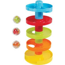8 busy ball drop yes this toy includes more rattle and no baby won t be operating the ball tower from birth these are smaller than the