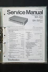 technics sa 203 stereo receiver original service manual manual technics sa 203 stereo receiver original service manual manual wiring diagram