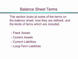 definitions of balance sheet terms on the balance sheet definitions and issues nursery
