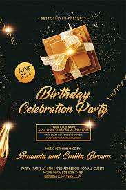 club flyer templates freepsdflyer download the best free birthday flyer designs for