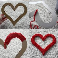 San Valentin Decoration Valentine Days Outside Diy Maroon Hearts Wall Decoration For