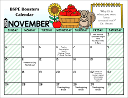 Printable Event Calendar Bspe Boosters Calendar Basis Scottsdale Primary East Boosters