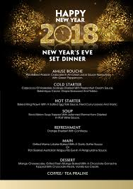 New Year Menu New Years Eve Party 2018 Villasong Saigon Boutique Hotel