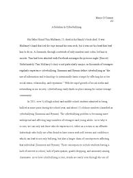 problem solution essay cyberbullying communication