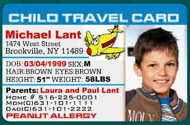 Labels child Card Template Cards Www easyidcard Amazing com Id Kids travel card Travel