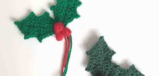 This means spike 1 and is worked on as follows: Holly Sprig With Berries Free Crochet Pattern Tutorial Dora Does