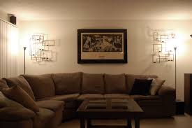 standing lamps for living room. Using Standing Lamps For Living Room To Decorate The Space : Captivating Brown Curvy Sofa Installed S