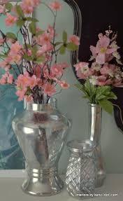 mercury glass flowers diy