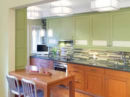 Kitchen With Modern Green Wall Cabinets Installing Wall Cabinets