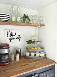 Our Kitchen Tea Station and Tiered Trays for Kitchen Storage | The ...