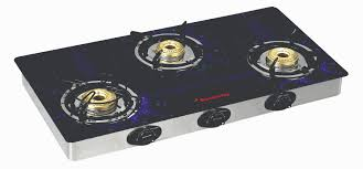 Gas Cooktop Glass Reflection 3 Burner Special Edition Butterfly Home Appliances