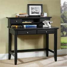 black small writing desk table with drawer