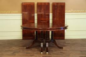 creative round to oval mahogany dining table with leaves sits 12 round table 60 inch