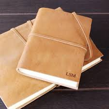 find of the day personalised leather journal
