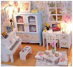 dollhouse miniature furniture. Interesting Dollhouse DIY Wood Doll House Piano Music Theme Houses 3D Wooden Dollhouse  Miniature Furniture Toys In
