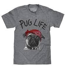 Tee Luv <b>Pug Life Dog</b> T-Shirt - Soft Touch Pug Shirt for <b>Men</b> ...