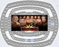 Metlife Stadium Wrestlemania 35 Seating Chart Best Seats At Metlife Stadium Wrestlemania Wwe Result Info