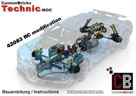 Building instructions for 42083, bugatti chiron, lego® technic. Lego Moc Custom Rc Bugatti Modification By Custombricks De Rebrickable Build With Lego