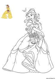 Coloriage Princesse Disney Belle Jecolorie Com