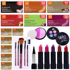 24 pc beauty dhamaka vlcc with belle paris makeup range make up kits cj