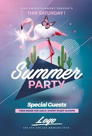 Summer Party Flyers Summer Party Flyer Rome Fontanacountryinn Com