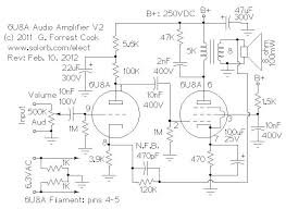 low power 6u8a vacuum tube audio amp v2 on simple amplifier schematics