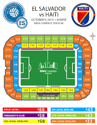 Bbva Compass Stadium Houston Seating Chart El Salvador Vs Haiti Bbva Stadium