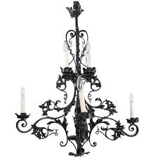 french 20th century gothic style iron chandelier