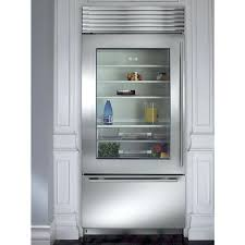 glass door residential refrigerator glass door refrigerator a subzero bi s stainless steel built in glass