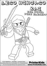 Small Picture Lego NINJAGO KAI WITH SWORD Coloring Page Preview