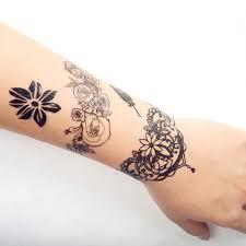 Cokohappy Nero Pizzo Temporanei Temporaneo Tatuaggi Tattoo Loto
