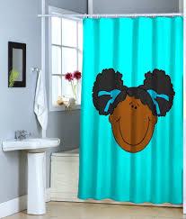 Turquoise Shower Curtain Idea The Homy Design Brown And Turquoise Shower Curtain